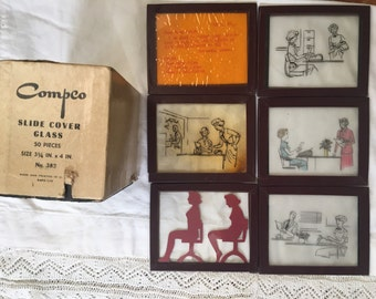 Vintage Collection Of Glass Slides For Your Art