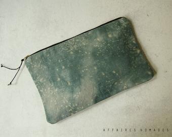 Boho clutch bag. Linen Pouch. Bag organizer. passport ticket pouch. cosmetic pouch .wallet linen purse.