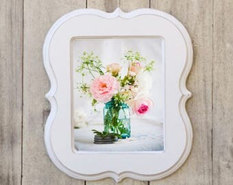 10x10 Picture Frame,Wooden Frame,Picture Frame, whimsical picture frame, curvy frame, 10x10 frame,