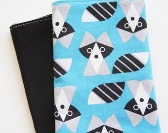 Napkin Set for Kids  - Grey and Black Raccoons Napkin - set of 2