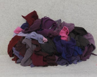 Recycled Cashmere Remnants - Mixed Purple 16oz