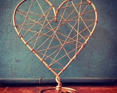 Rustic Wire Wrapped Heart Cake Topper