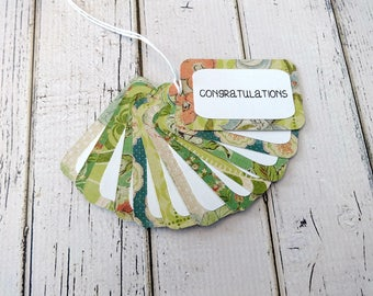 Gift Tags, Gift Tag Set, Assorted Tags, Party Tags, Paper Tags, Congratulations Tags, Hanging Tags, Set of 12 Medium Tags, Congratulations