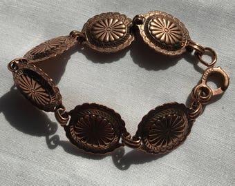 Vintage Southwest Copper Link Bracelet
