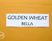 One Yard Golden Wheat Bella Cotton Solid Fabric from Moda, 9900 103