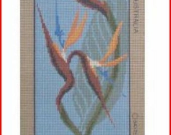 Imported Needlepoint Canvas: Bird Of Paradise