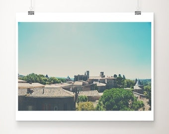 Carcassonne photograph cathedral photograph castle photograph Carcassonne print cathedral print castle print travel photography