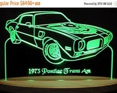 ON SALE NOW 1973 Trans Am Acrylic Lighted Edge Lit Led Sign Plaque Vvd9 Full Size Usa Original
