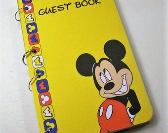 Guest Book, Mickey Birthday, Birthday Party Sign in Book, Party Guest Book, Birthday Party, Mickey Baby Shower