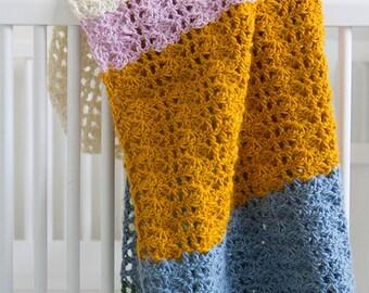 Lisbon crochet baby blanket