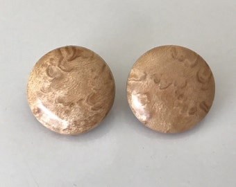 Handmade Beautiful Light Handmade Curly Maple Wood Earrings