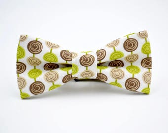 Children's Bow Tie Brown and Green Dot, by AmandaJoHandmade on Etsy