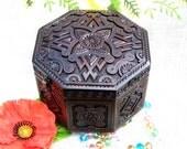 Jewelry box Wooden box Ring box Wedding jewelry box Jewelry organizer Jewelry box wood Wooden jewelry box Wood carving Jewelry ring box B62