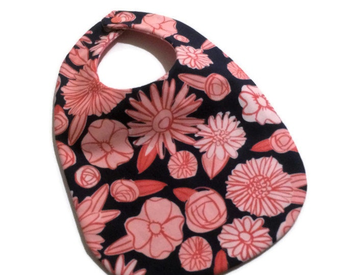 Baby Girl Big - Pink Floral on Navy - New Baby Gift - Baby Gift Under 15