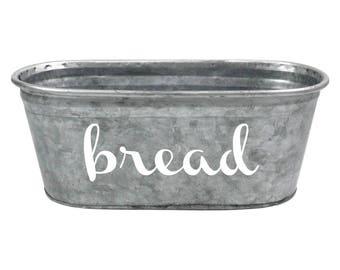Bread Decorative Display Tub, White