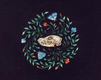 Fox skull embroidery