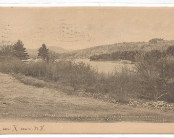 "New Hampshire, Vintage Postcard, ""Swanzey Pond, Summer Home of Denman Thompson, West Swanzey, N.H.,""  1905, #922."
