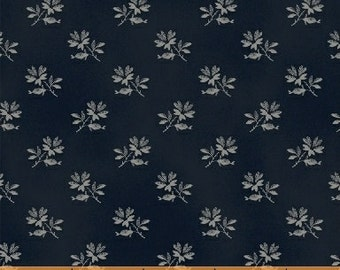 FAB1860-08, Civil War, Small Blue Flower, The Blue and the Grey by Nancy Gere for Windham Fabrics, Reproduction Fabric by the Yard