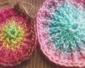 Woman's Peaked Hats, boutique buttons crochet custom order Ann S. 2 hats