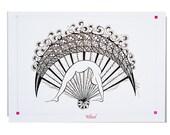 YOGA Card WHEEL Pose  - 5x7 from Original Ink Drawing, Home Decor, Yoga Studio Decor