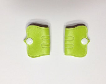 Cord Keeper, Iphone cord, Ear bud cord, Cord organizer, White snaps, Lime green Vinyl cord keeper, Snap cord keeper, Cable organizers