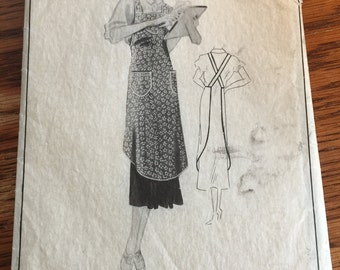 Vintage Bib Farmhouse  Apron Pattern Woman's Home Companion No. 5632