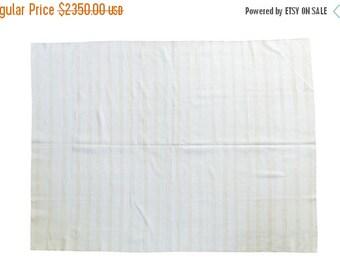 10% OFF RUG SALE 6.5x9 Vintage Flatwoven Carpet
