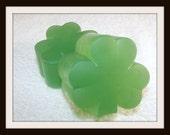 Luck Of The Irish Shamrock Soap, St. Patricks Day Soap, Shamrock Soap, Clover Soap,Lucky Clover Soap, St Patty's Soap