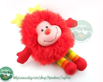 Rainbow Brite Red Sprite Plush Romeo: 1980s Toy by Mattel