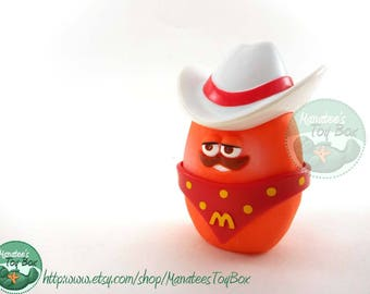 McDonalds McNugget Buddy Cowpoke 1980s Toy Complete Cowboy