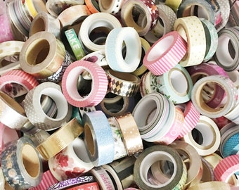 Washi Grab Bag 6 Rolls of Misc Washi From My Shop Washi Tape