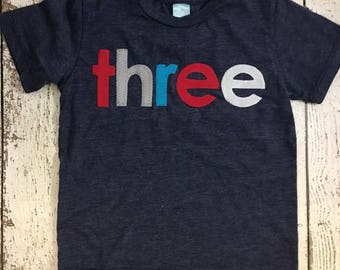 Colorful birthday shirt, custom birthday shirt, custom shirt, Children's birthday shirt, Fun birthday tee, any birthday, navy, red, blue