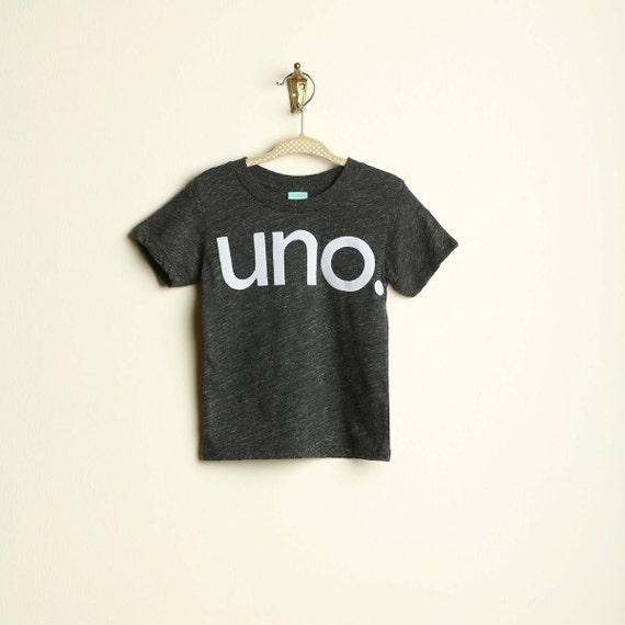 Uno Birthday Tee Organic Shirt Blend First By