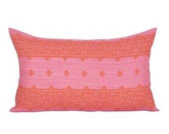 Fez lumbar pillow cover in Pink/Orange