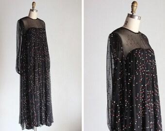 1970s Balenciaga Aria Black Tunic Dress