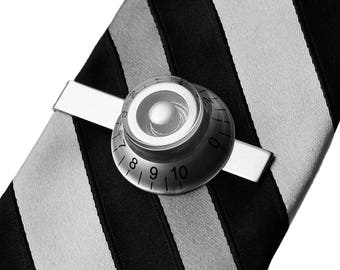 Guitar Knob Tie Clip - Tie Bar - Tie Clasp - Business Gift - Handmade - Gift Box Included