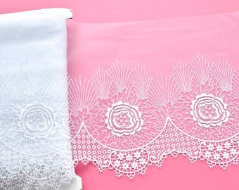 White Embroidered Floral Lace, Victorian Lace, Wedding Accessories, Bridal Lace, Vintage Wedding, Dolls, Lace Fashions