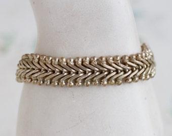 Chunky Sterling Silver Bracelet - Gate Chain Links