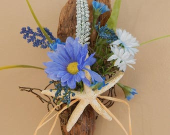 Floral Driftwood Wall Hanging