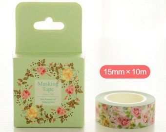 Washi Tape| Decorative Tape Romantic Rose Design