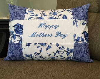 Mother's Day Pillow  - Patchwork Pillows  - Mother's Day gifts  - Decorative Embroidered Pillows