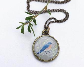 Bluebird Bronze Necklace