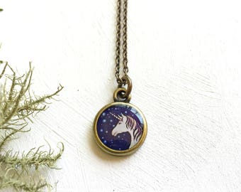Small Unicorn Necklace | Beautiful, Delicate Unicorn Art Gift | Mythical Creatures
