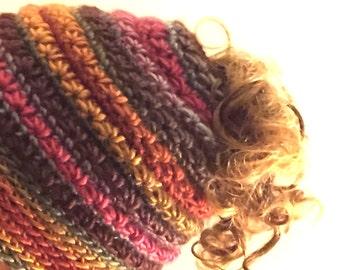 Frenzy Bun Hat Star Stitch - PATTERN - Messy Bun Hat - Ponytail Hat - PATTERN - Crochet Star Stitch Frenzy Bun Hat - 3 Video Links Included