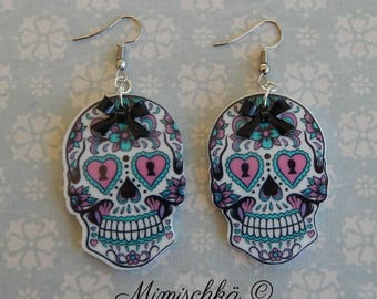 earrings large mexican sugar skull