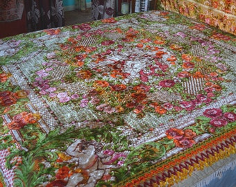 Velvet Gypsy Bedspread, Italian, Excellent Condition