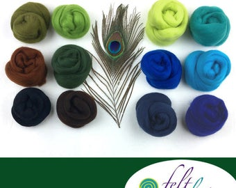 Proud Peacock - March's Featured Merino Wool Color Palette