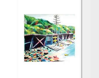 Limited Edition Print of Boatsheds