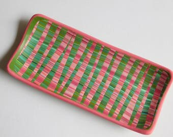 Polymer Clay Jewelry Tray, ring holder, trinket dish