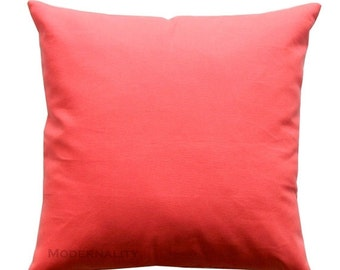 SALE Accent Pillows, Solid Coral Pillow Cover, All Sizes, Zippered Pillow, Coral Cushion Cover, Sofa Pillows, Plain Throw Pillows, Bed Pillo